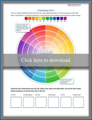 photo relating to Color Wheel Printable referred to as Colour Basic principle for Youngsters LoveToKnow
