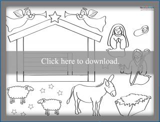 Printable Nativity Scene Printable PDF