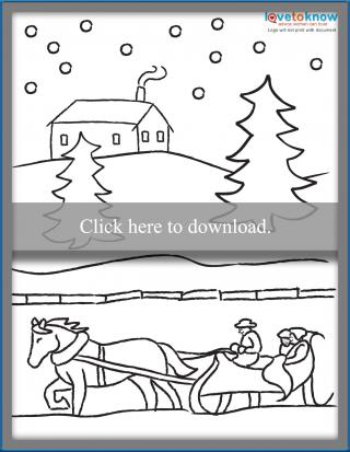 Winter Coloring Page Printable PDF