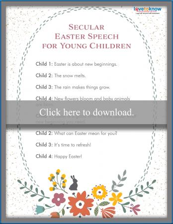 short easy easter speeches