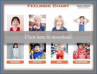 graphic relating to Feelings Chart Printable named Thoughts Chart for Little ones LoveToKnow
