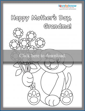 photo relating to Printable Mothers Day Cards to Color called Moms Working day Playing cards for Youngsters in the direction of Coloration LoveToKnow