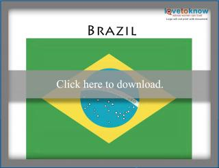 photograph regarding Brazil Flag Printable titled Printable Flags for Youngsters LoveToKnow
