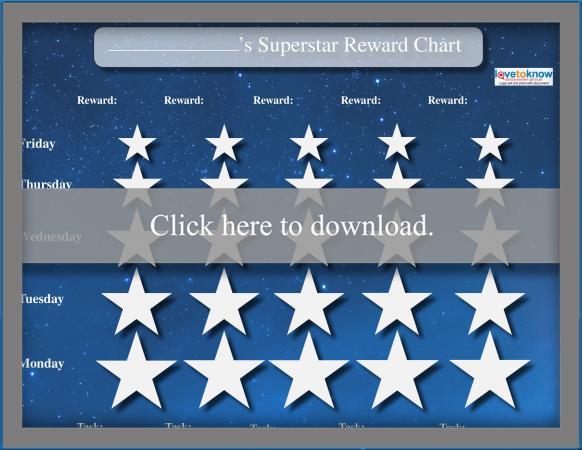 Reward Charts For Children Lovetoknow