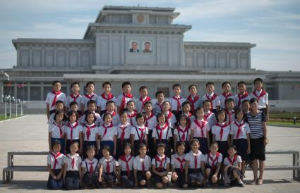 North Korean school children