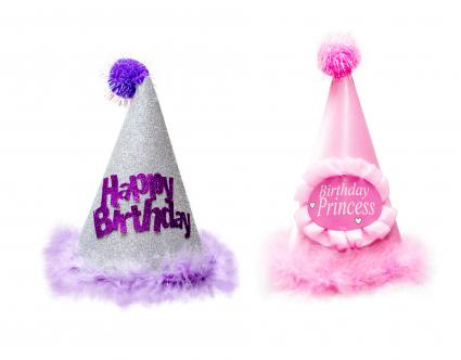 Two Fancy Furry Birthday Hats