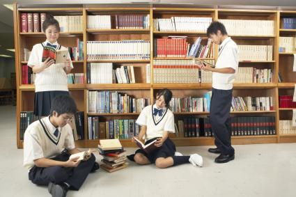 Teenage students in Japan
