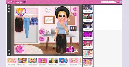Screenshot of Girls Go Games