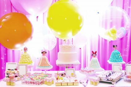 Colorful decoration on birthday party