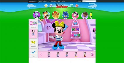 Screenshot of Minnie's Bow Toons: Dress Up