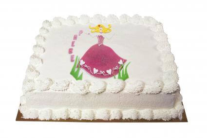 Princess Image transfer cake