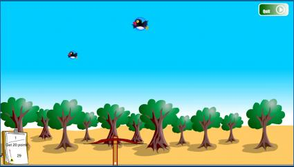 Screenshot of Big Bird Hunting Game
