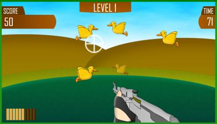 Screenshot of Duck Shoot Game