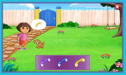 Screenshot of Nick Jr. Dora The Explorer Game