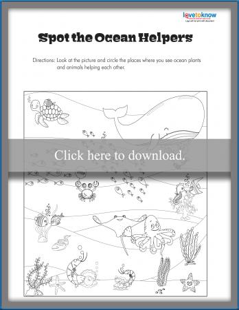 Spot the Ocean Helpers Worksheet