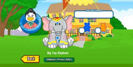 Screenshot of Webkinz.com