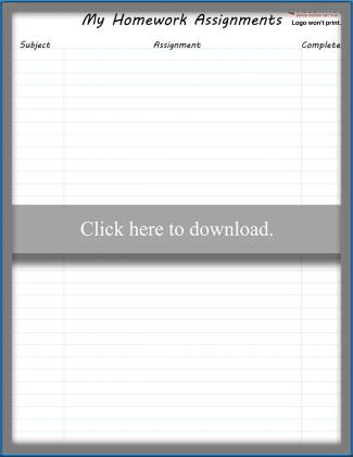 photo relating to Printable Homework Chart named Printable Research Charts LoveToKnow