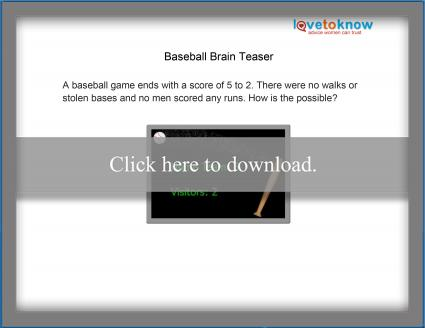 baseball brain teaser