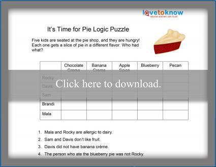 Pie Logic Puzzle