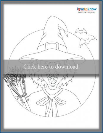 scary witch face printable