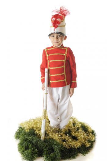 Boy dressed as a nutcracker