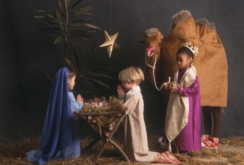 children's live nativity scene
