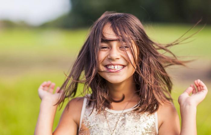 Happy girl outside