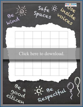 Chalkboard Theme Sticker Chart
