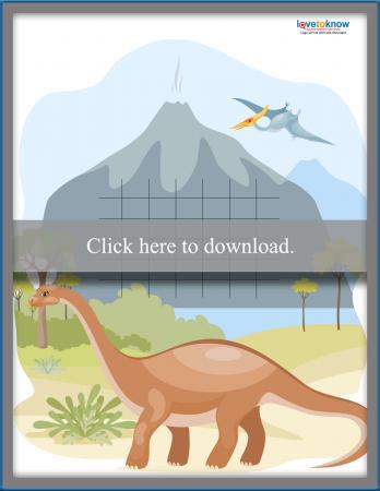 Dinosaur Sticker Chart