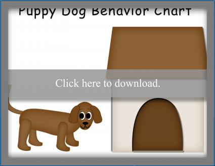 Puppy Dog Behavior Chart