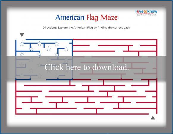 Hard American Flag Maze