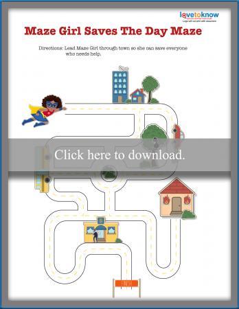 Superhero Path Maze