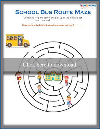 Circular School Bus Maze