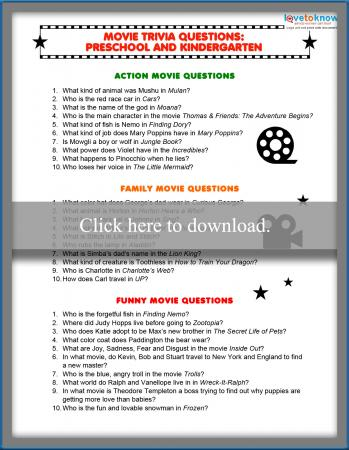 photo regarding Winter Trivia Questions and Answers Printable identified as Online video Trivia Queries for Children LoveToKnow