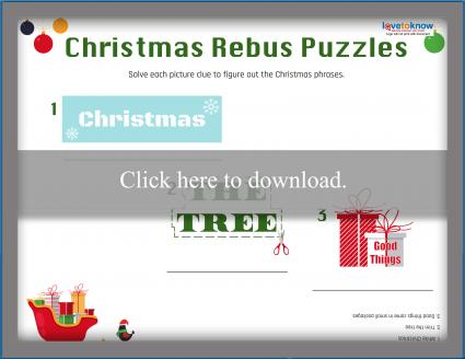 Christmas Rebus Puzzles With Answers.Printable Rebus Puzzles For Kids Lovetoknow