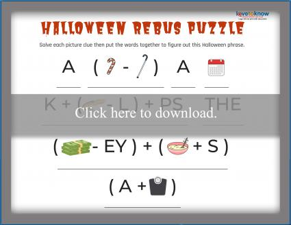 graphic about Rebus Printable named Printable Rebus Puzzles for Children LoveToKnow