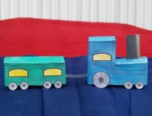 Cutout Paper Train Instructions