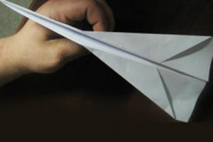 Glider Style Paper Airplane Instructions