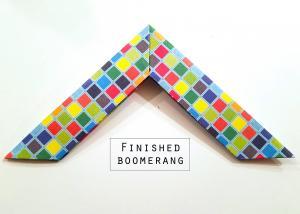 Paper Boomerang Instructions