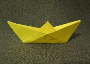 Folded Paper Boat Instructions