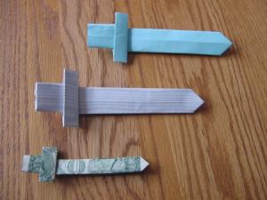 Origami Sword Instructions