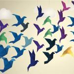 Origami Flying Birds
