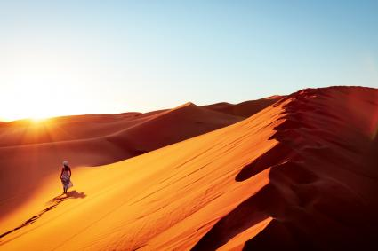 woman in sand dune