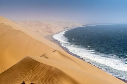 Sand dunes at Sandwich Harbour, Namibia