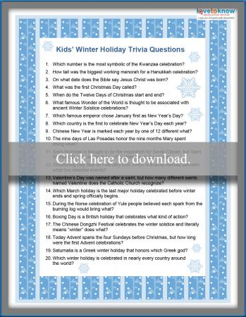 photo relating to Winter Trivia Questions and Answers Printable identify Wintertime Trivia for Small children LoveToKnow