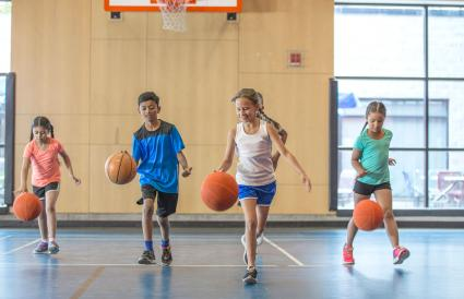 Dribbling Basketballs Up the Court