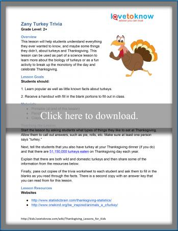 Turkey Trivia Lesson