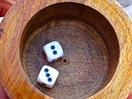 Dice and cup for game