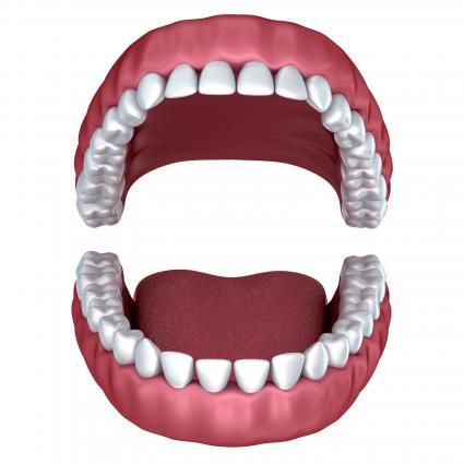 Opened denture