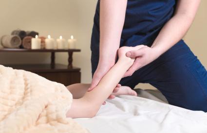 Child getting a massage